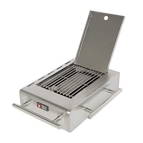 Mayer Barbecue Infrarotbrenner, Sear Burner Sear Brenner für Gasgrill MGG-342 & 362 Master, Edelstahl, Keramikplatte, bis 800°C