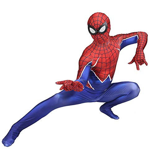 NVHAIM Nio Adulto Spider-Man Parallel Universo Punk Spider-Man Spider-Man Halloween Carnaval Cosplay Spider-Man Traje, Disfraz de Spiderman 3D,Men S