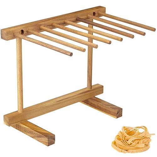 Elegant Life Wooden Pasta Drying Rack, Natural Beech Wood, Brown