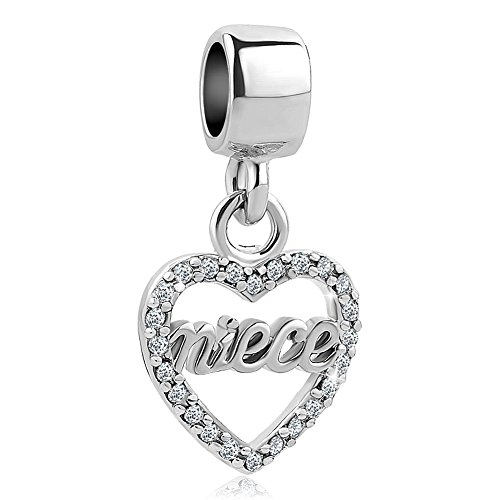 Korliya Niece Heart Charm Dangle Bead for Bracelet