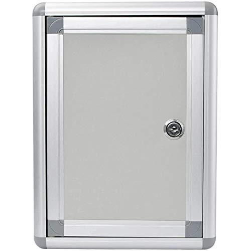鍵付きBOX 募金箱 応募箱 投票箱 投函箱 アンケートボックス 多目的 アルミ製ボック シルバーホワイト 持ち運びやすい 壁掛け可 オフィス 会社 店舗用