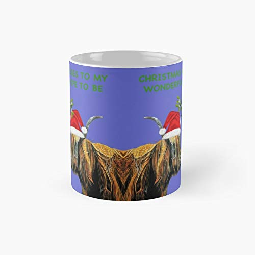 Taza clásica de Navidad con diseño de besos a mi maravillosa esposa Be - prometido   El mejor regalo divertidas tazas de café de 11 onzas