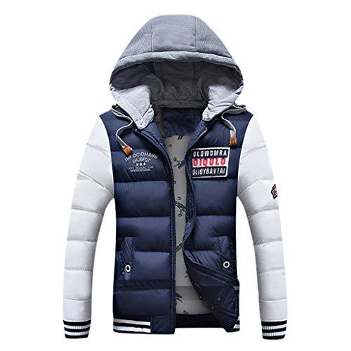MAYOGO Winterjacke Herren Steppjacke Leichte Daunenjacke Puffer Jacke Wintermantel Ski-wear Parka Coat Baumwolle Jacke mit Kapuze