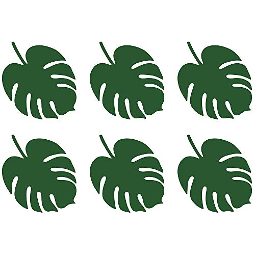 Lot de 6 cartes nominatives Aloha Monstera en papier