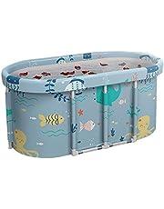 shenruifa Mobiele badkuip, opvouwbare badkuip, voor volwassenen, draagbaar, robuust en antislip, badbad met badopzetstuk voor familie en kinderen, 120 x 55 x 50 cm