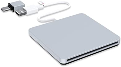 External CD DVD Drive, VersionTECH. USB Ultra-Slim Portable CD DVD RW/DVD CD ROM..