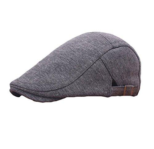 JUNGEN Floppy Chapeau Unisexe Wide Brim Chapeau De Soleil Fashion Voyage Chapeau de Plage idéal pour Vacances Béret Noir foncé gris1 PCS