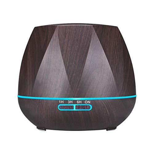 ZYYC Humidificador de Aire de Control Remoto de 500ML Difusor de Aceite Esencial Humidificador Mist Maker Difusor de Aroma LED Aromaterapia-SIN Control Remoto B_AU