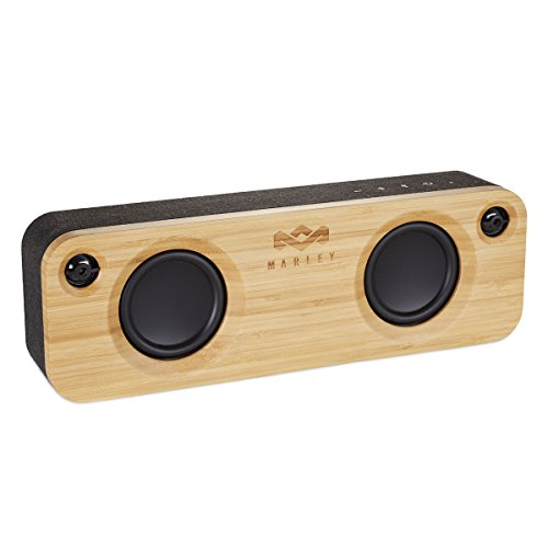 House of Marley Get Together, tragbare Bluetooth Lautsprecherbox, kabellose Verbindung, Mikrofon, Raumfüllender Sound, 3.5mm Aux-In, USB Port, 10 Std. Akkulaufzeit, black