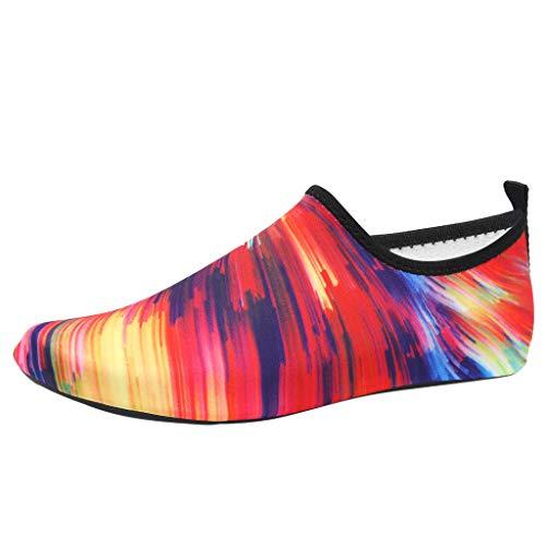 Luckhome Laufschuhe Damen Socken Damen Hausschuhe Damen Yoga Damen Sneaker Schnell trocknende Aqua-Socken des Sommer-Paares Barfuß-Strand-Schwimmen-Yoga-Ebenen-Wasser-Schuhe(Mehrfarbig,EU:41-42)