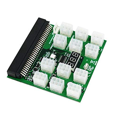 Exanko PCI-E 12V 64Pin una 12X 6Pin Adaptador de Servidor de Fuente de AlimentacióN Placa de ConexióN para 1200W 750W PSU Server GPU BTC Mining