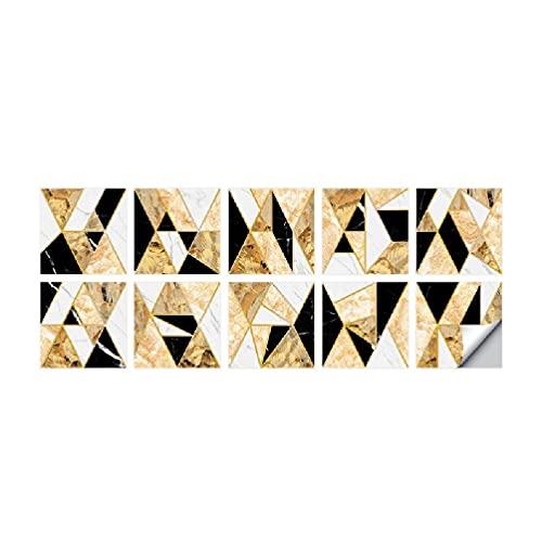 Adhesivos para azulejos de pared en tres tamaños, adhesivos para azulejos extraíbles y pegados, resistentes al agua, para decoración del baño de la cocina, incluye