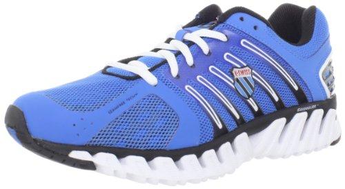 K-Swiss - Zapatillas de Running de material sintético Hombre, Bleu/Rouge, 42