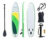 BYCDD Tavola Gonfiabile da Stand Up Paddle, Antiscivolo Deck Surf SUP Consiglio Posizione Larga Pompa Surf Control Rimovibile Mano Fin per Gli Sport Acquatici,A_350X76X15CM
