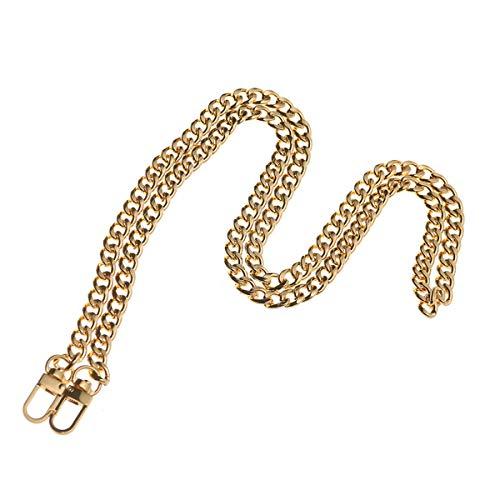 Miss99 40cm 80cm 100cm 120cm Metallkette Schultertasche Riemen Handtasche Ketten DIY Bag Strap Ersatzriemen, Gold, 60cm