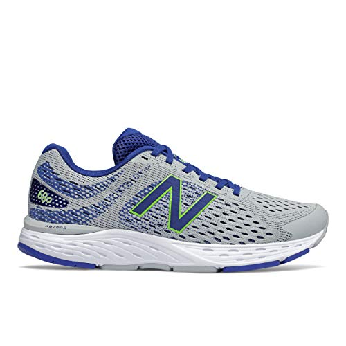 New Balance Men's 680 V6 Cushioning Running Shoe, Light Aluminum/Cobalt, 7
