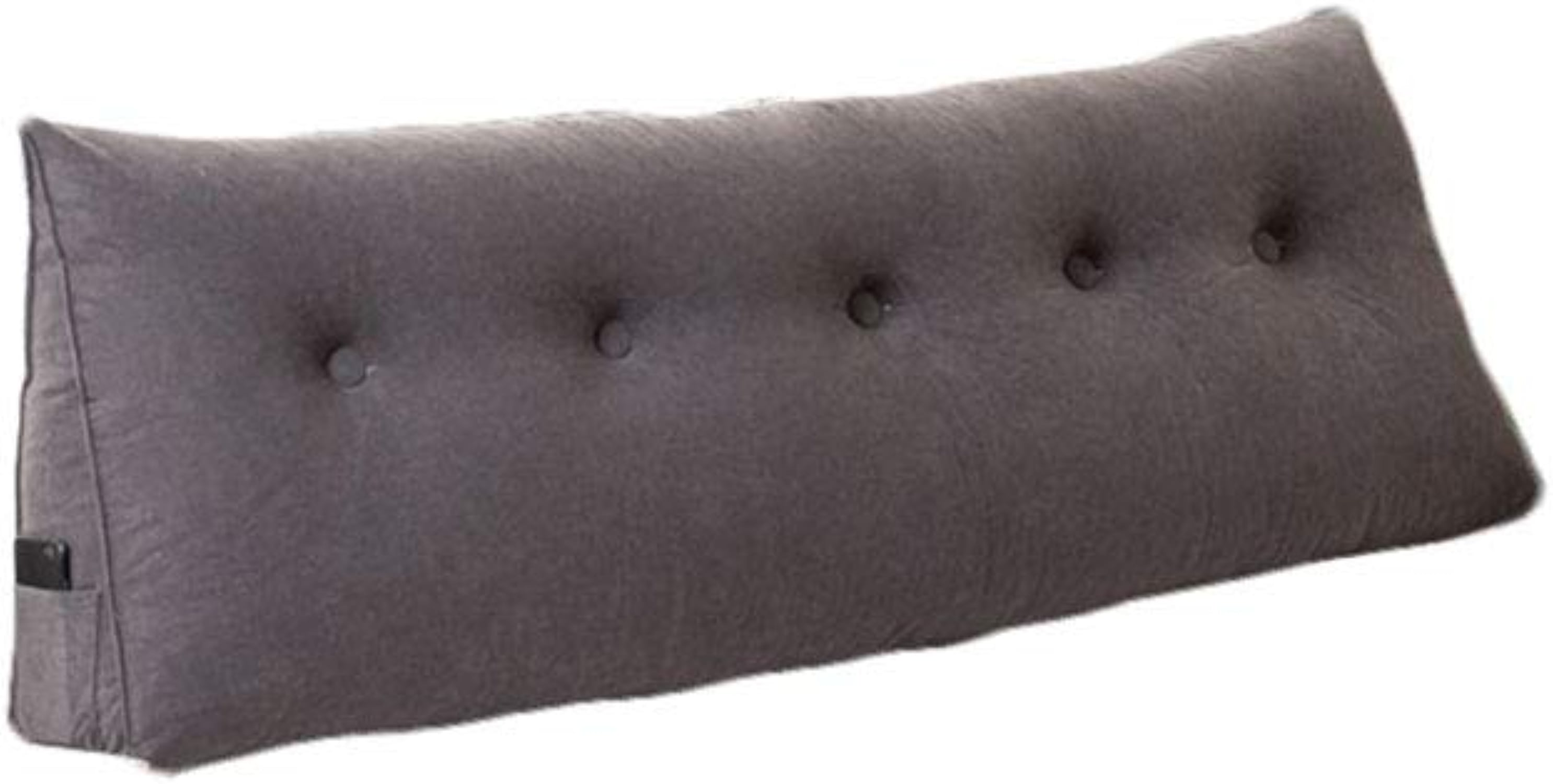 SACYSAC Coussin de tête de lit Triangle Pad canapé Taille Grand arrière Tatami Oreiller,argent,150  20  50cm