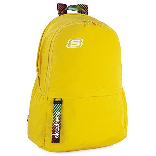 SKECHERS - Mochila Escolar Adolescente con Bolsillo Interior para iPad Tablet Ideal para Instituto Práctica y Versátil S894, Color Limón Cromo