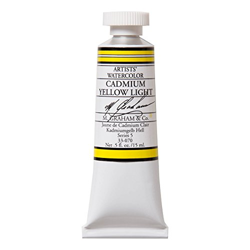 M. Graham 1/2-Ounce Tube Watercolor Paint, Cadmium Yellow Light