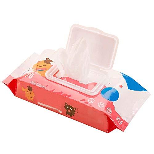 Ysswjzzzz Tierbedarf, haustierspezifische Feuchttücher Katzen- und Hundetücher saubere Haustiertücher 70 Stück Universal