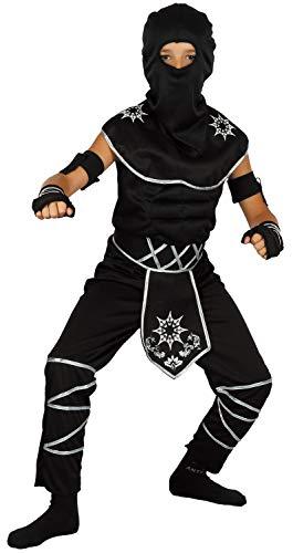 U LOOK UGLY TODAY Kinder Kostüm Ninja Halloween Karneval Verkleidungsparty Cosplay für Jungen - L