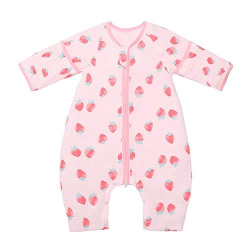 QinWenYan Saco de Dormir para Bebé Saco de Dormir del bebé Suave cómoda for Dormir Saco niño Wearable Mantas Mangas Desmontables Saco de Dormir para Niños Pequeños (Color : White, Size : M)