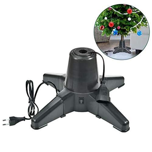 Mowtom Soporte de árbol de Navidad, Base de árbol de Navidad Soporte de árbol de Navidad Giratorio eléctrico Soporte de árbol de Navidad Giratorio de 360 Grados Estable