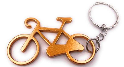 H-Customs Fahrrad aus Metall Gold Anhänger Schlüsselanhänger