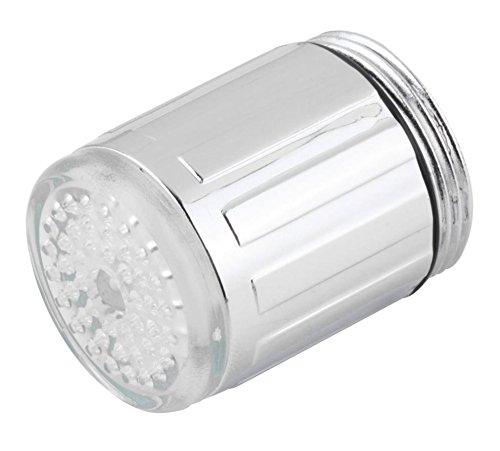 LED Wasser Wasserhahn ändert sich die farbe je nach Temperatur auf der Wasser. Blau für Cool, grün für Warm, rot für Hot. Passt Männlich & Innengewinde Wasserhähne perfekt für Küchen und Badezimmer von toilight - 6