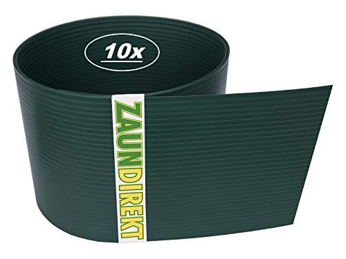 10 Stück Premium Hart PVC Sichtschutz-Streifen RAL 6005 Moosgrün Windschutz (1,35 mm) Blick-Schutz Zaun-Blende
