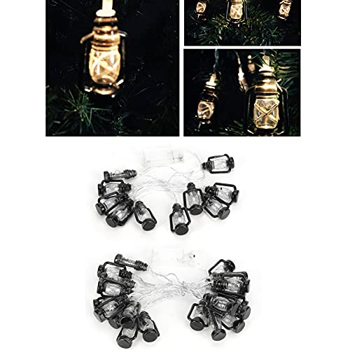 Luci a Stringa, Luci Decorative Musulmane a Forma di Lampada a Cherosene in Plastica a Forma di Stringa di Luce Decorativa Ramadan per Festival Indoor/Outdoor(3 Meters)