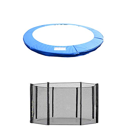Blümme 14FT Replacement Trampoline Safety Net Enclosure Surround And Guard Spring Cover Padding Pads Blue