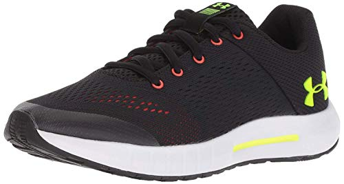 Under Armour boys Grade School Pursuit Sneaker, Black (003)/White, 5.5