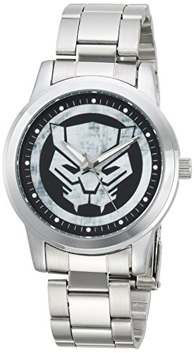 Marvel Reloj analógico para Hombres de Cuarzo con Correa en Acero Inoxidable WMA000216
