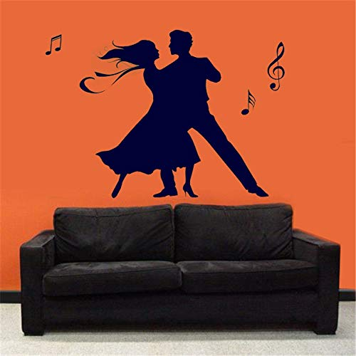 Opprxg Dancing on Dance Studio Pegatinas de Vinilo para Pared Pegatinas de decoración del hogar Pegatinas de decoración Mural de Estudio de Baile 81x57cm