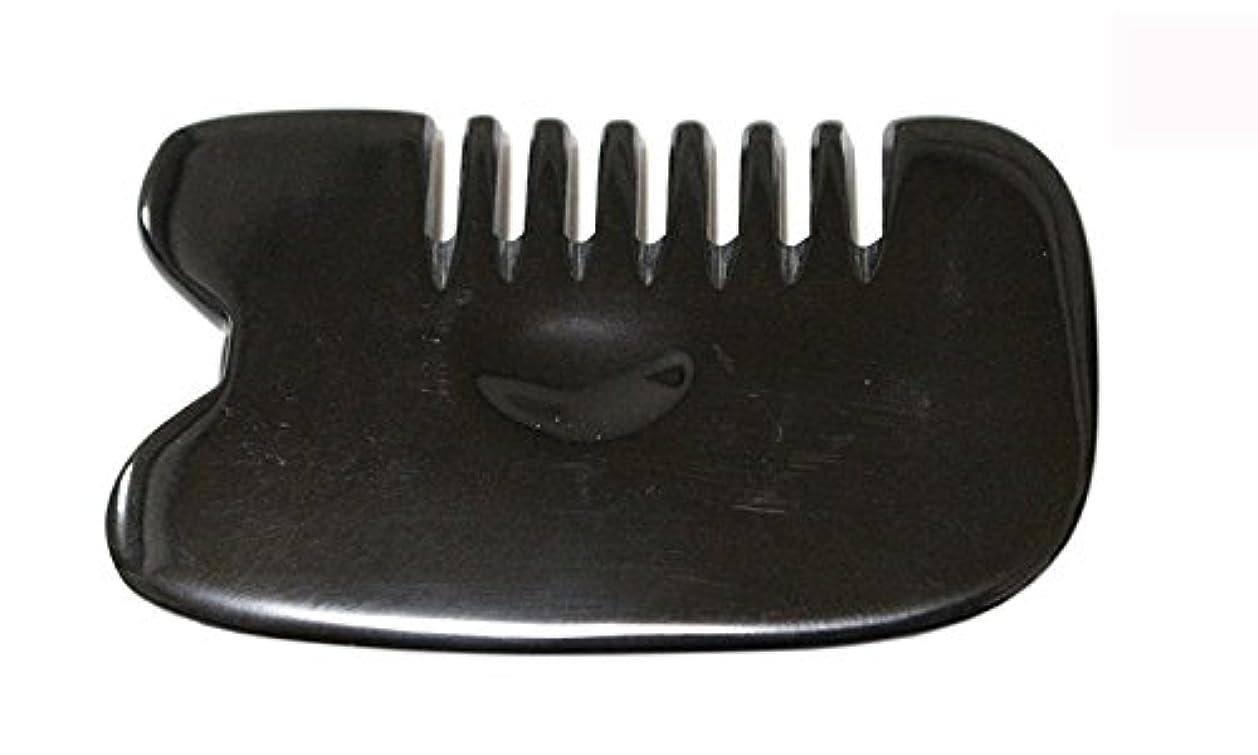 放棄する重荷マニフェストLaLa Mart 100% 天然牛の角 美顔用かっさ板 カッサプレート 特厚 櫛型 美容 マッサージ カッサ板 指圧代行器 水牛の角 血行促進冷え症改善
