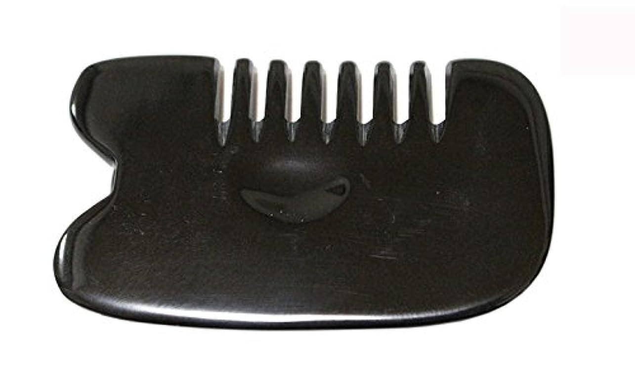 寄付する臭い胆嚢LaLa Mart 100% 天然牛の角 美顔用かっさ板 カッサプレート 特厚 櫛型 美容 マッサージ カッサ板 指圧代行器 水牛の角 血行促進冷え症改善