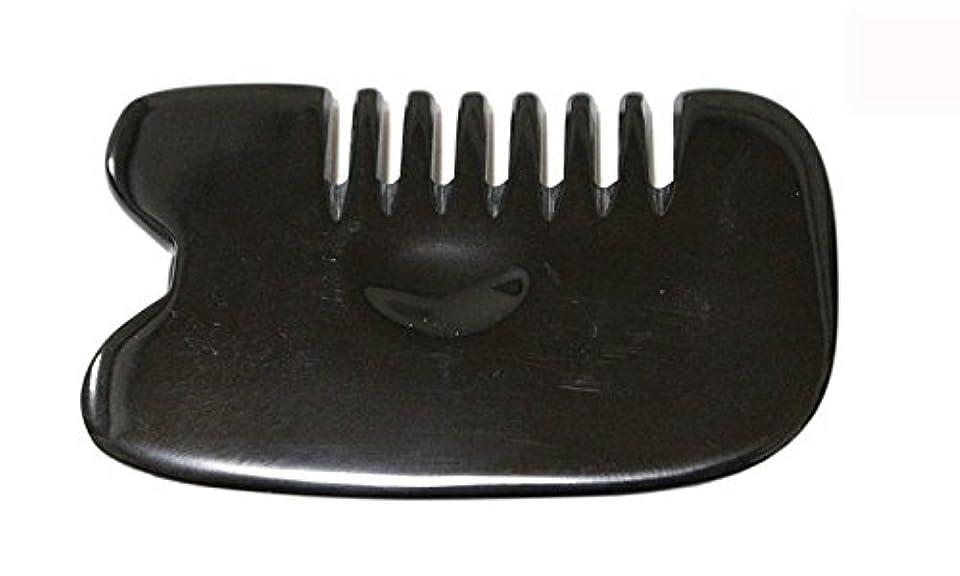 まもなく人柄充実LaLa Mart 100% 天然牛の角 美顔用かっさ板 カッサプレート 特厚 櫛型 美容 マッサージ カッサ板 指圧代行器 水牛の角 血行促進冷え症改善