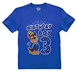 Official Paw Patrol Chase Boys 3rd Birthday Toddler Kids T-Shirt 3T Blue