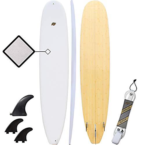 South Bay Board Co. Hybrid Surfboard-Wax-Free Textured Soft-Top Foam Deck & 6oz Fiberglass Bottom Deck-Available in Shortboard. Funboard