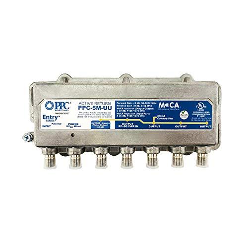 PPC Entry Series Active Return 5-Port MoCA Amplifier Model PPC-5M-U/U