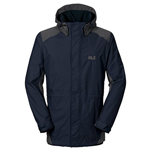 Jack Wolfskin Men's Amply Texapore Jacket, Night Blue, 3X-Large