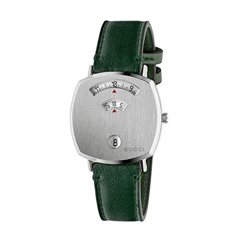 Gucci Grip 38mm Stainless Steel GG Engraved Watch YA157406