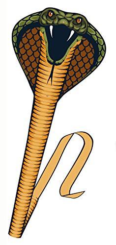 Paul Günther 1154 - Einleinerdrachen Cobra, Drachen in Form einer Schlange, eindrucksvoller Silhouettedrache, mit Fiberglasstäben, Wickelgriff und Schnur, ca. 69 x 400 cm groß