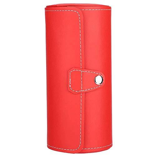 MQJ Uhr Pu Roll Halter Ringe Ohrringe Display Case Schmuck Geschenkbox Aufbewahrung Ohrringe Aufbewahrungsbox Schmuckständer Halter Für Frauen Tragbar