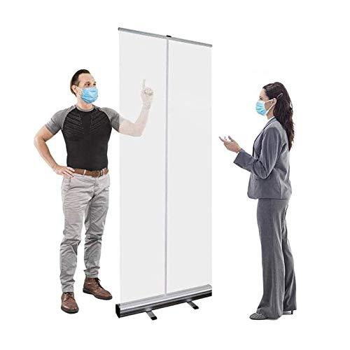 EW&HU Enrolle la pancarta transparente, la pantalla del protector de estornudos, la pantalla de distanciamiento social, la protección de escupituras, la pantalla de partición transparente