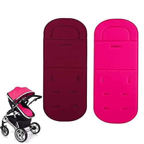 ADESUGATA - Cuscino universale per passeggino, 2 pezzi, traspirante, anti-sudore, protegge dalle macchie, portatile per passeggino, seggiolino...