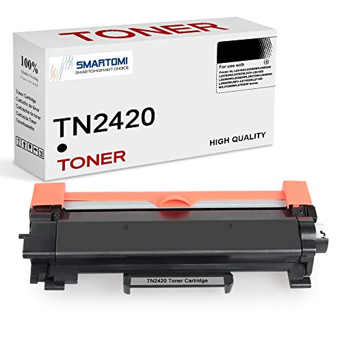 SMARTOMI TN2420 TN-2420 Cartucce Toner Compatibili per TN2410 TN-2410 per Brother MFC-L2710DW L2710DN L2730DW L2750DW, HL-L2310D L2350DW L2375DW L2370DN, DCP-L2510D L2530DW L2550DN (Nero, 1-Pack)