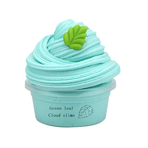 Mingbai Stress Reliever Decor Soft Toys-Healing Fun Kid Gift- DIY Slime Supplies Fruit Kit Cloud Slime Aromatherapy Pressure Slime Toys and Hobbies Education, for Kids and Adults (Blue)