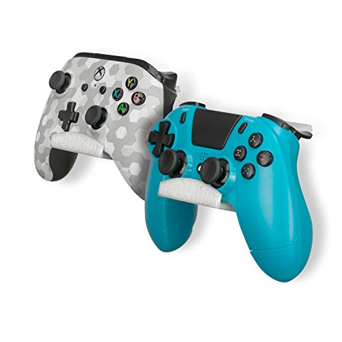 Frosty Edition Game Controller Desktop Stand Holder (2 Pack) for Xbox ONE 360 Switch PS4 STEAM PC Nintendo, Universal Gamepad Accessories - No Screws, Stick on, by Brainwavz